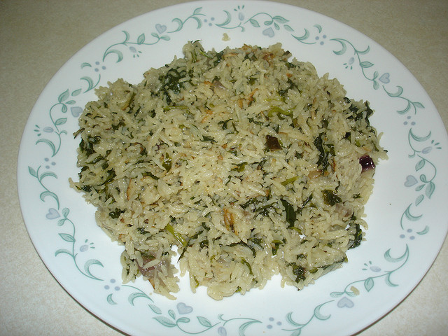 Steamed Spinach and Rice by rashmi1979